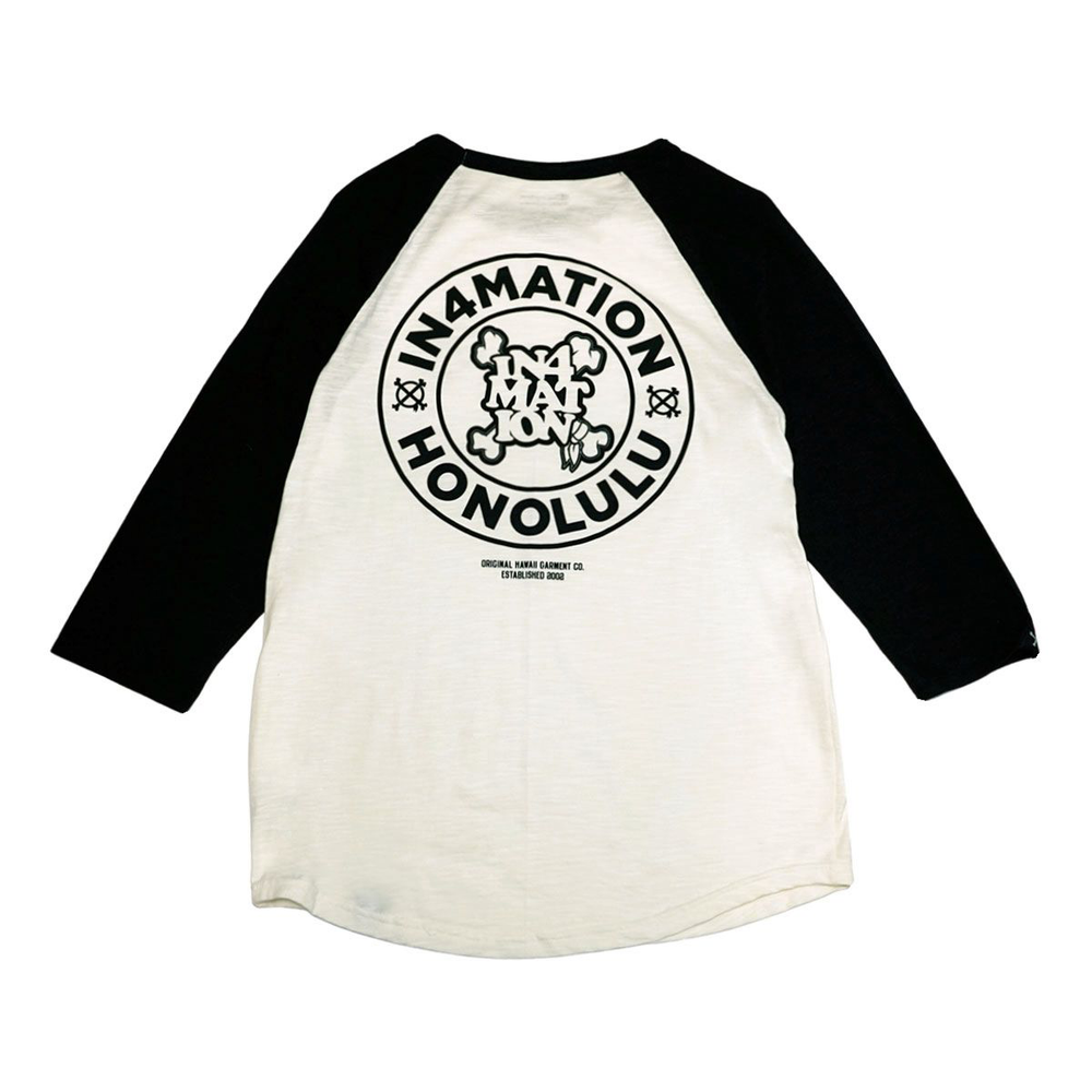 STAMPED CHAMPION RAGLAN (CHALK/BLACK)
