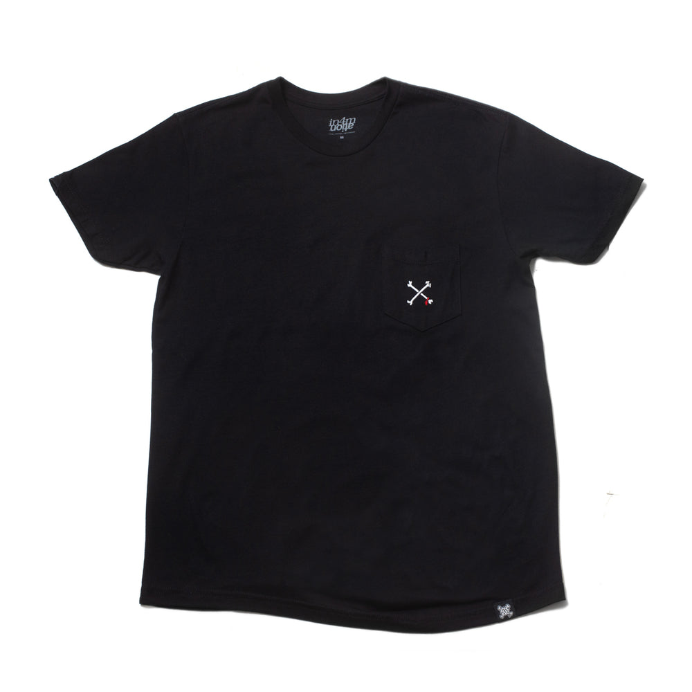 CROSSBONES EMBROIDERED POCKET (BLACK)