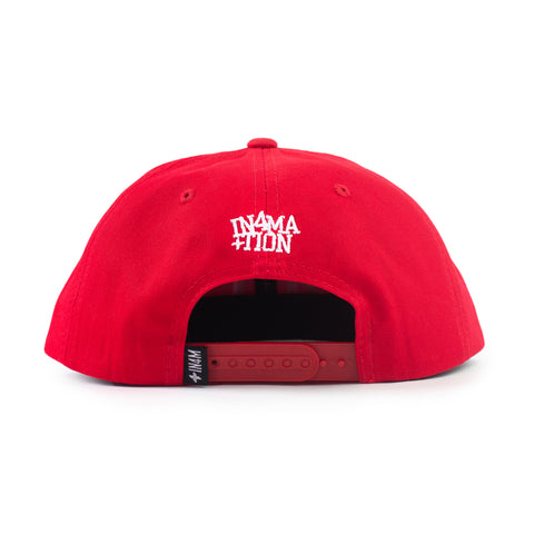 IN4MATION - HI SNAPBACK (RED/WHITE)- RED CLOSURE