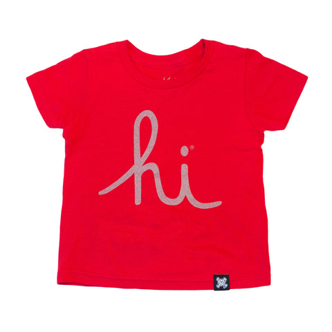IN4MKIDS - HI SCRIPT KIDS TEE (RED/3M)