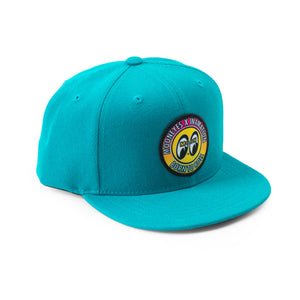 KIDS BORN TO ROLL GRADIENT SNAPBACK (TURQUOISE)