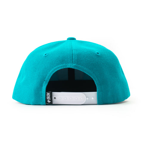IN4MKIDS - BORN TO ROLL GRADIENT KIDS SNAPBACK (TURQUOISE)