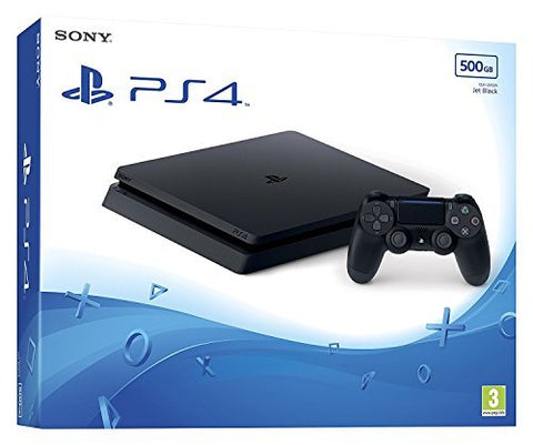 PS4 500GB Slim Console - Black w/ Spider Man GOTY & Control