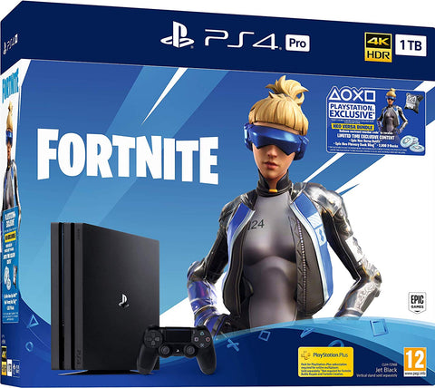 Sony PS4 Pro 1TB  Console w/Fortnite Game & Extra Cammo Dualshock Controller