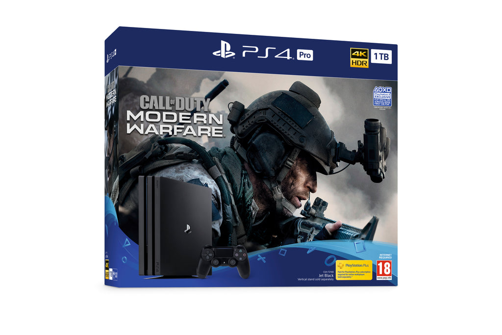Sony PS4 1TB Pro Console w/ Call of Duty Modern Warfare