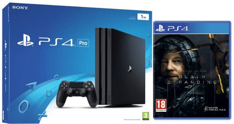 Sony PlayStation Pro 1TB Black Console w/ Death Stranding & Extra Dualshock Controller