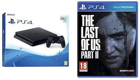 Sony PS4 500GB Slim Console - Black w/ Last of Us Part 2