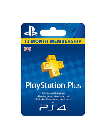Sony Playstation Plus 12 Month Membership Card