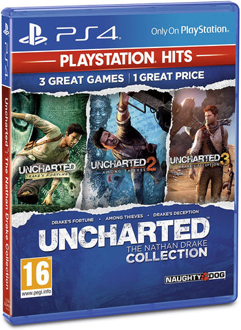 Uncharted: The Nathan Drake Collection (Sony PS4) - Playstation Hits Edition