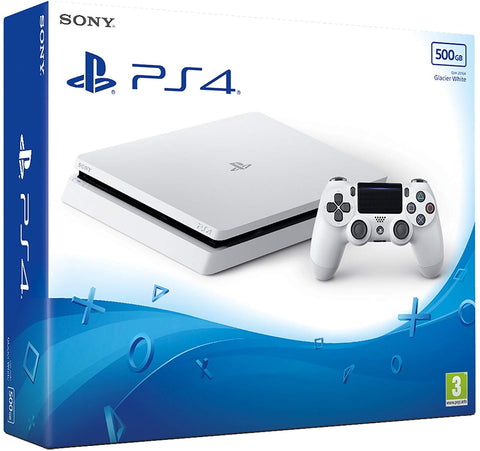 Sony PS4 500gb Slim Console - White w/ Detroit Become Human & Extra Dualshock Controlle