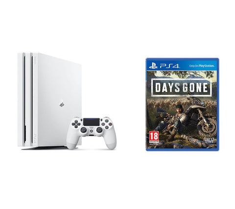 Sony PlayStation Pro 1TB White Console w/ Days Gone & Extra Dualshock Controller