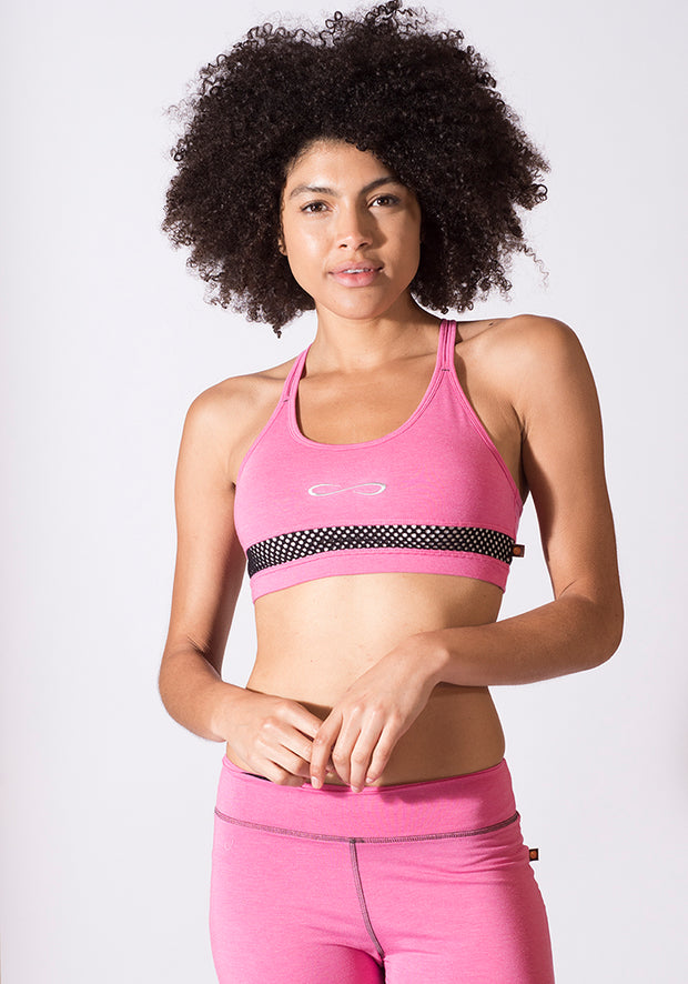 Bamboo Seamless Sports Bra - CARROT BANANA PEACH