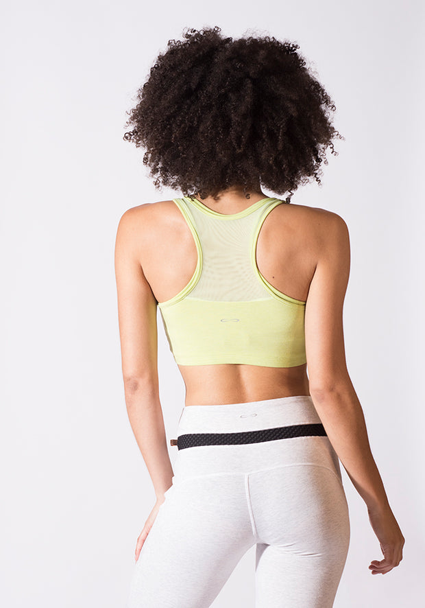 Bamboo Y Back Sports Bra - CARROT BANANA PEACH