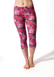 Milk Capri Leggings - CARROT BANANA PEACH