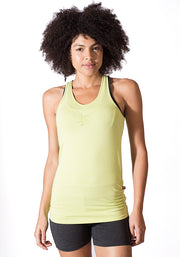 Bamboo Long Length Tank - CARROT BANANA PEACH