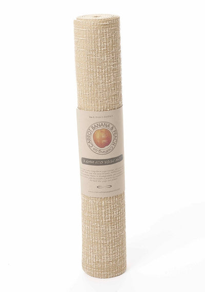 Jute Yoga Mat - CARROT BANANA PEACH