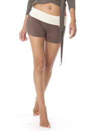 Bamboo Hatha Roll Down Shorts
