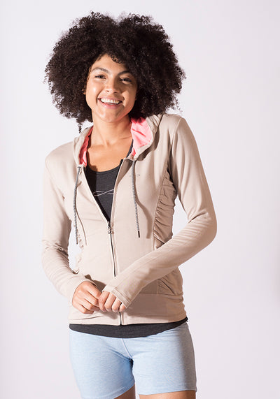 Soybean Zipped Hooded Jacket