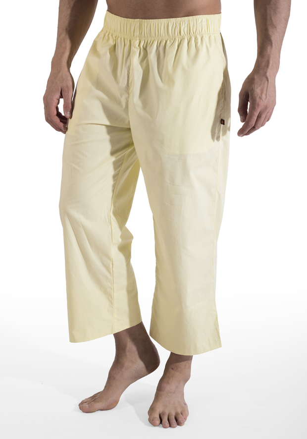 Organic Cotton Poplin 3/4 Warrior Pants - CARROT BANANA PEACH