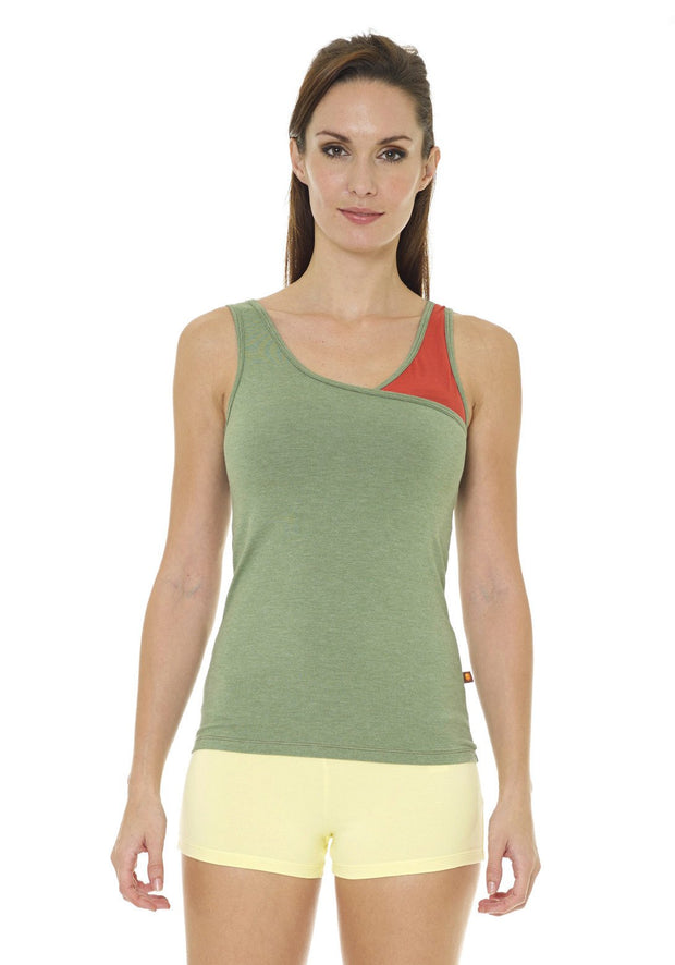 Bamboo Twister Tank - CARROT BANANA PEACH