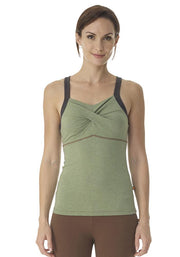 Bamboo Diamond Back Tank - CARROT BANANA PEACH