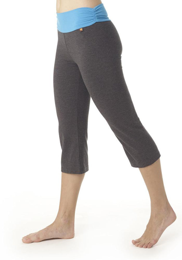 Bamboo Hatha 3/4 Studio Pants - CARROT BANANA PEACH