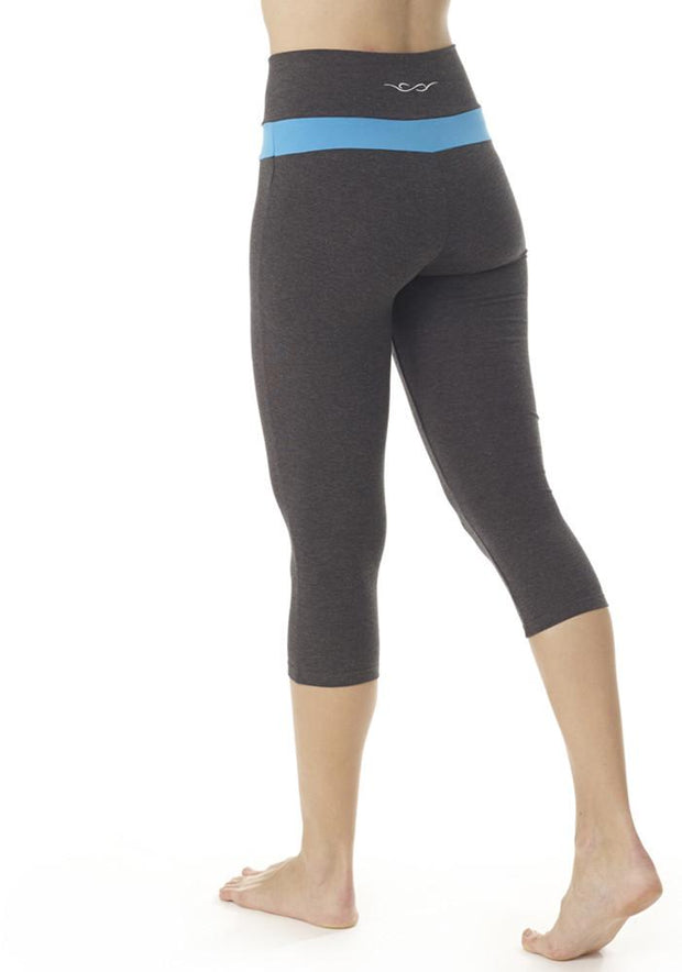 Bamboo V Waist Capri Leggings - CARROT BANANA PEACH
