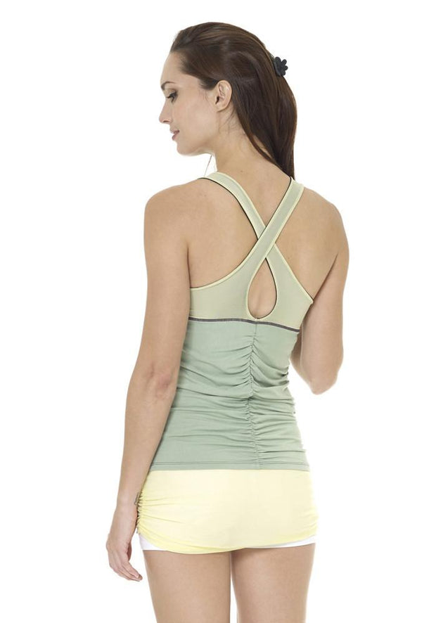 Banana Cross Back Tank - CARROT BANANA PEACH