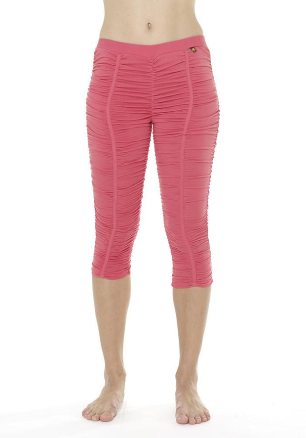 Banana Groove Capri Leggings - CARROT BANANA PEACH