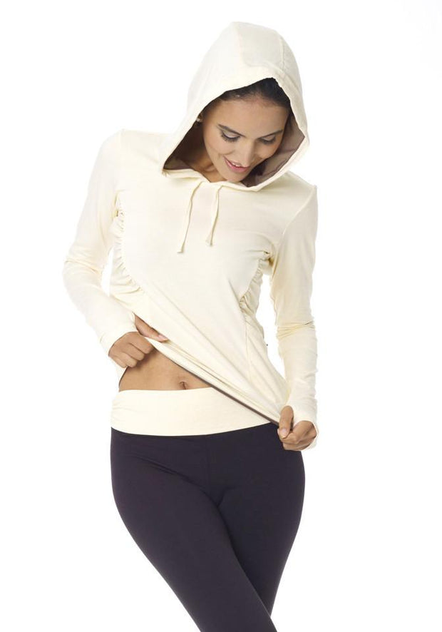 Bamboo Long Sleeve Hoodie - CARROT BANANA PEACH