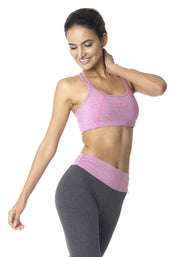 Bamboo Tear Drop Yoga Bra - CARROT BANANA PEACH