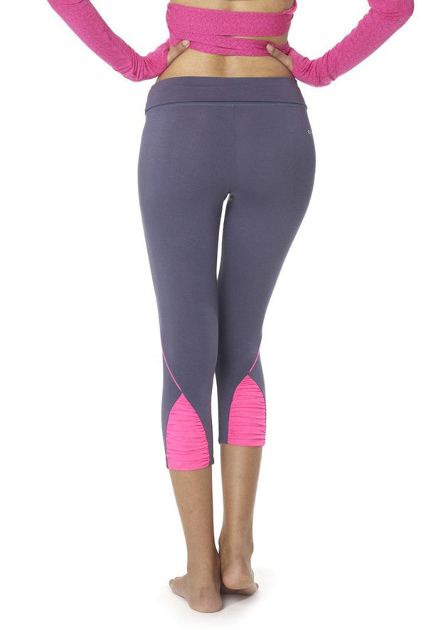 Banana Runners Capri Leggings - CARROT BANANA PEACH