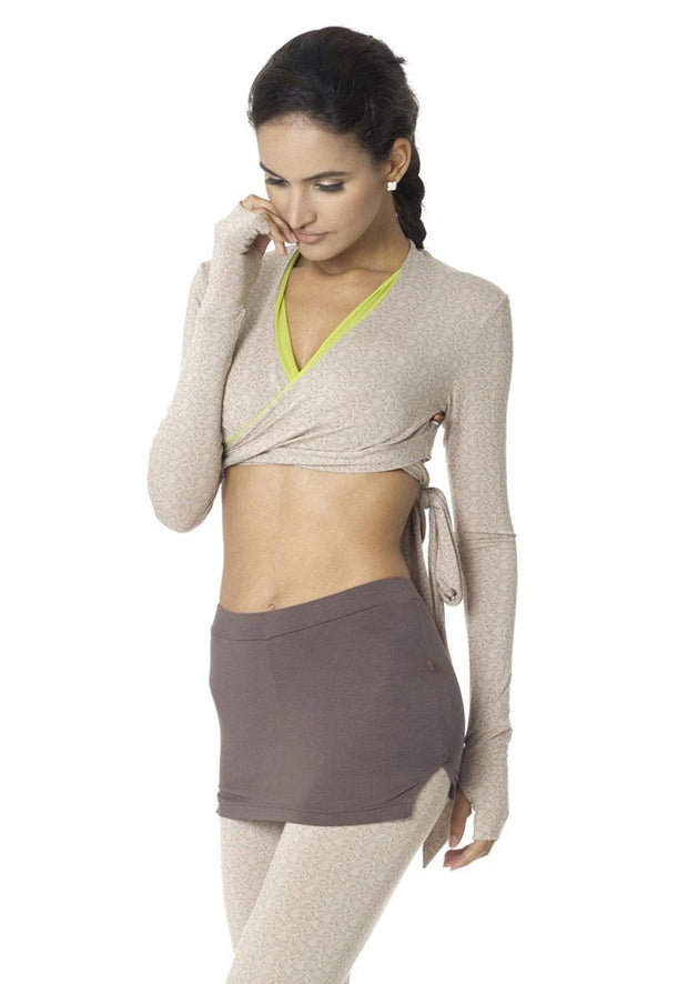 Banana Long Sleeve Cropped Wrap