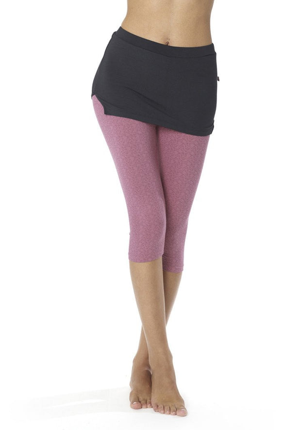 Banana Apprentice Capri Leggings - CARROT BANANA PEACH