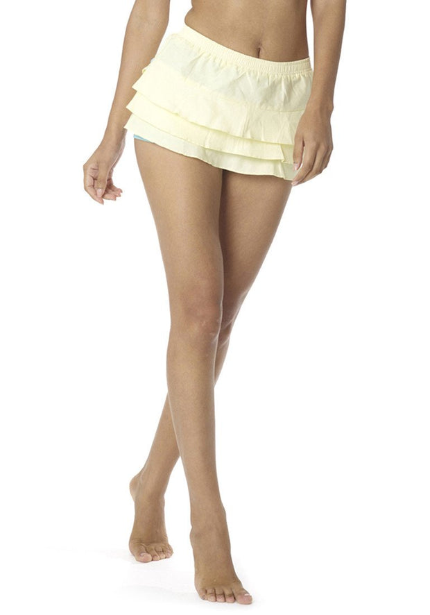 Organic Cotton Poplin Float Skort - CARROT BANANA PEACH