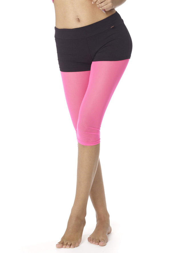 Mesh Running Capris Leggings