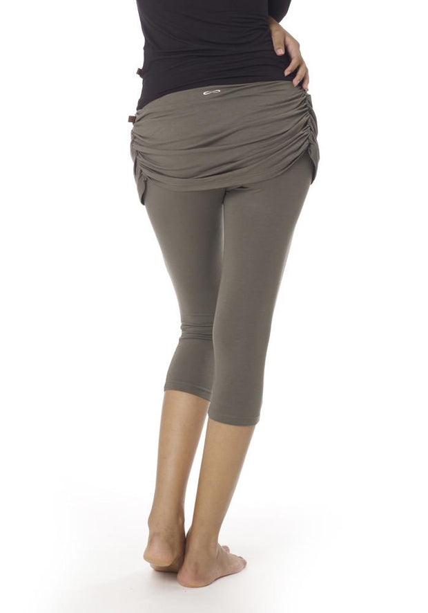 Milk Skort Capri Leggings - CARROT BANANA PEACH