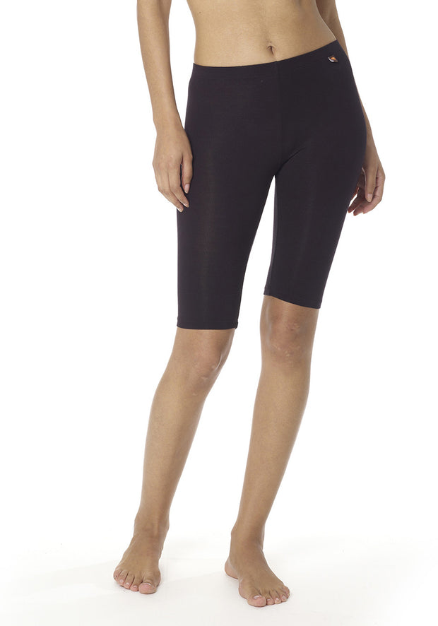 Aloe Vera Biker Shorts - CARROT BANANA PEACH