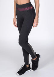 Graphite Heather Bamboo Roll-Down Fitness Leggings