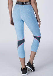Denim Heather Bamboo Hipster Cropped Fitness Pant