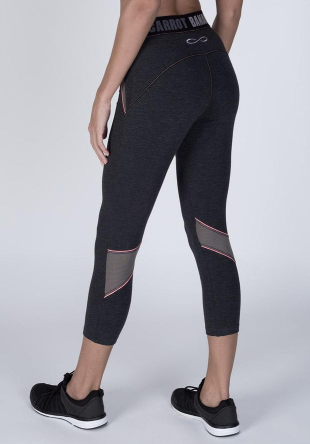 Graphite Heather Bamboo Hipster Cropped Fitness Pant