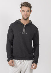 Carrot Banana Peach Graphite Heather Bamboo Hooded Sweater