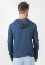 Carrot Banana Peach Navy Heather Bamboo Hooded Sweater