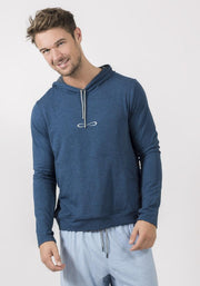 Navy Heather Bamboo Hooded Sweater