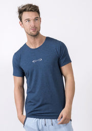Navy Heather Bamboo Stretch T-Shirt
