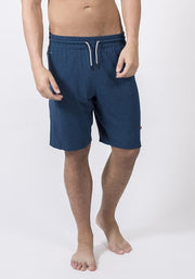 Navy Heather Bamboo Jogging Shorts