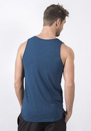 Navy Heather Bamboo Fitness Tank