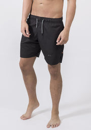 Black Organic Cotton Poplin Running Shorts