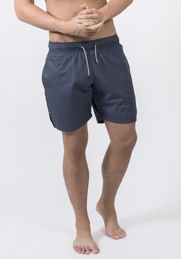 Navy Organic Cotton Poplin Running Shorts