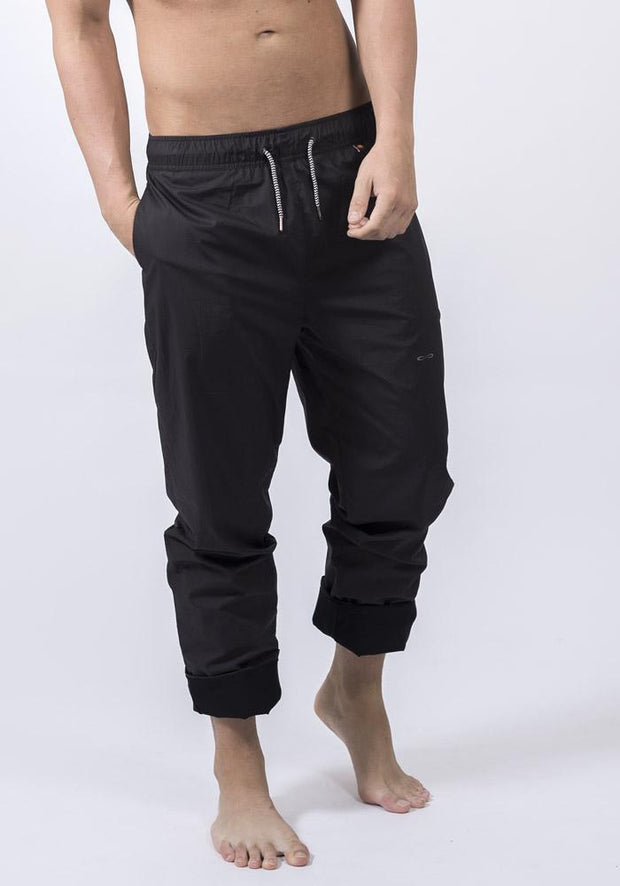 Black Organic Cotton Poplin Training Pant
